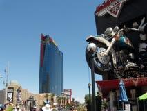 Hôtel de Hollywood de planète et reconstruction et Harley Davidson de casino en 2009, Las Vegas Image libre de droits