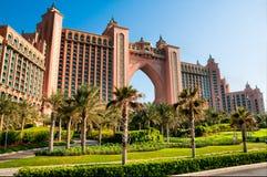 Hôtel de l'Atlantide à Dubaï Images libres de droits