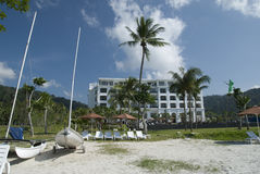 Hôtel de luxe à la côte Photos stock