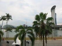 Hôtel de luxe de Marina Bay à Singapour Gratte-ciel modernes Architecture et art dans la civilisation moderne photo stock