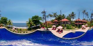 Hôtel de luxe par la mer vr360 banque de vidéos