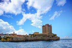 Hôtel de luxe sur le point de le Curaçao photographie stock libre de droits