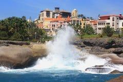 Hôtel de Luxuary près d'océan Images libres de droits