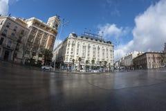 Hôtel de palais en Plaza de Neptuno Madrid, le 11 mars 2018 Spai photos libres de droits