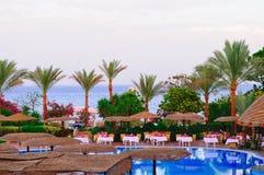 hôtel de plage Images libres de droits