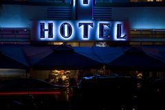 Hôtel de plage, Miami Photos libres de droits