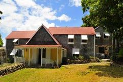 Hôtel de plantation en le Niévès, une île des Caraïbes Image libre de droits