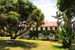 Hôtel de plantation en le Niévès, une île des Caraïbes Images libres de droits