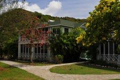 Hôtel de plantation en le Niévès, une île des Caraïbes Photos stock