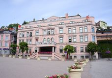 Hôtel de Thon au centre de la ville de Skien, comté de Telemark, Norvège Photo libre de droits