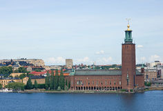 Hôtel de ville à Stockholm Image libre de droits