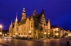 Hôtel de ville à Wroclaw image libre de droits