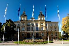 Hôtel de ville dans la ville finlandaise Photographie stock libre de droits