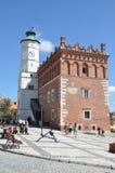 Hôtel de ville dans Sandomierz, Pologne Photos libres de droits