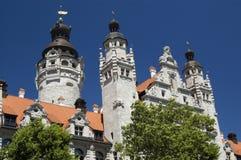 Hôtel de ville de Leipzig Photographie stock