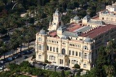 Hôtel de ville de Malaga, Espagne photographie stock libre de droits