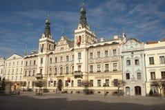 Hôtel de ville de Pardubice Image libre de droits