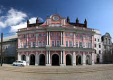 Hôtel de ville de Rostock Image libre de droits