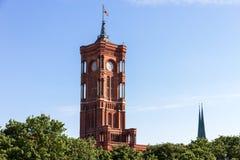 Hôtel de ville de Rotes Rathaus - de Berlin Images stock
