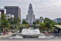 Hôtel de Ville et plaza de Los Angeles photographie stock libre de droits