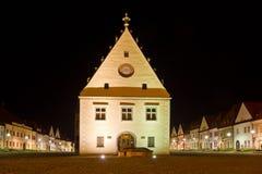 Hôtel de ville historique dans Bardejov, Slovaquie Images stock