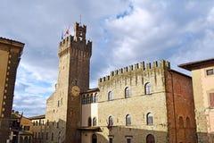 Hôtel de ville de la ville d'Arezzo - la Toscane - l'Italie 02 Photos libres de droits