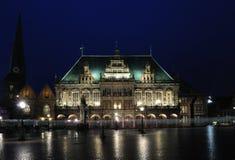 Hôtel de ville la nuit, Brême, Gemany Image libre de droits