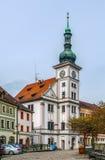 Hôtel de ville, Loket, République Tchèque Images stock