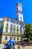 Hôtel de ville 05 de Lviv images libres de droits