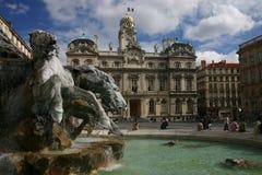 hôtel de ville Lyon Images libres de droits