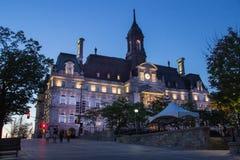 Hôtel de Ville de Montréal Canada image libre de droits