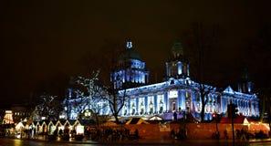 Hôtel de ville de Noël à Belfast Images stock
