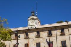 Hôtel de ville pour la ville de Denia en Espagne image libre de droits