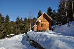 Hôtel en bois de Chambre Photo stock