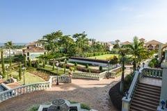 Hôtel en Ouganda sur le lac Victoria photo stock