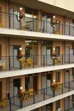 Hôtel et balconi Photographie stock