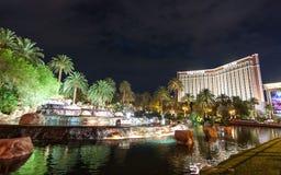 Hôtel et casino d'île de trésor à Las Vegas Nevada images stock