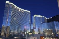 Hôtel et casino d'aria. Image stock