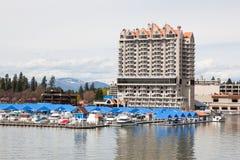 Hôtel et marina de CDA Image stock