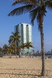 Hôtel et Playa De Reducto de mamie d'Arrecife Images libres de droits