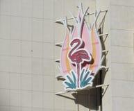 Hôtel et ressource roses de flamant Photographie stock libre de droits