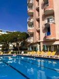 Hôtel et station de vacances en Lido di Esolo, Italie Images libres de droits