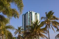 Hôtel et station thermale de mamie d'Arrecife à Lanzarote Image stock