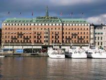 Hôtel grand à Stockholm Photographie stock