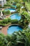 Hôtel luxueux de sources thermales, Images libres de droits