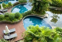 Hôtel luxueux de sources thermales, Image libre de droits