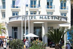 Hôtel Martinez Cannes Entrance photographie stock libre de droits