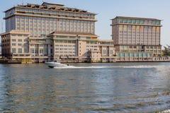 Hôtel oriental sur la crique Lagos Nigéria de cinq cauris photo libre de droits