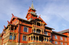 Hôtel Oslo de stationnement de Holmenkollen Photos stock