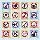 Hôtel pictograms_ban-03 Images libres de droits